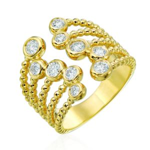Nutmeg Diamond Cuff Ring