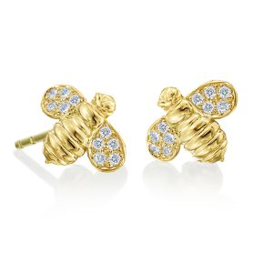 Honeybee B Diamond Earrings