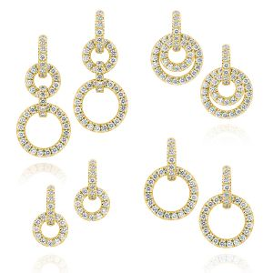 Moon Phase Diamond Earrings