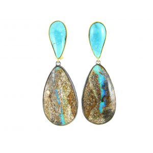 Opal and Turquoise Earrings