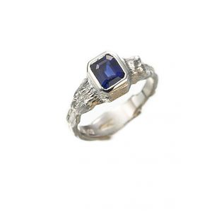 Sapphire Twig Ring