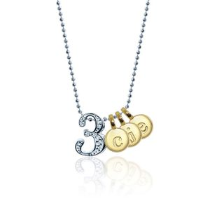 Little Numbers & Letters Necklace