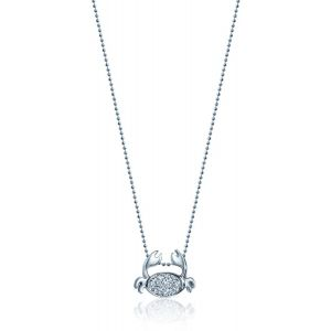Diamond Crab Necklace