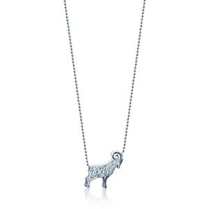 Diamond Ram Necklace