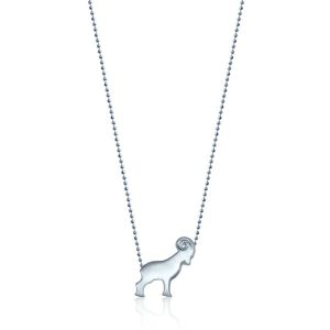 Silver Ram Necklace