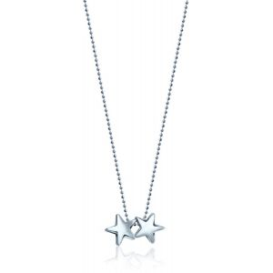 Silver Twinstars Necklace