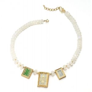 3-Stone White Necklace