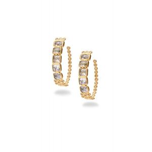 Multi-Color Diamond Hoops