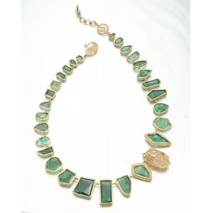 Sliced Emerald Necklace