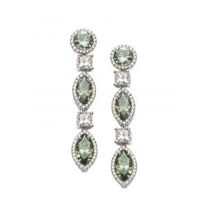 Trinity Platinum Earrings