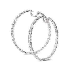 Trinity Diamond Hoop Earrings