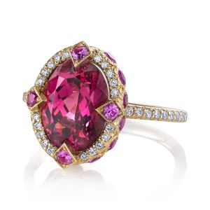 Pink Spinel Duchess Ring