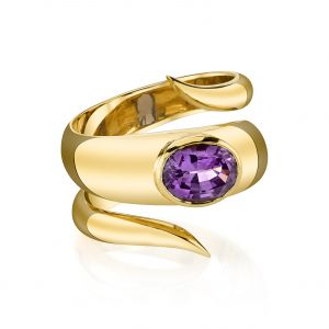 Lilac Spinel Wrap Ring