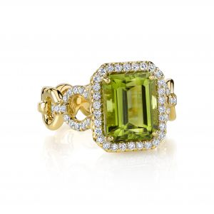 Peridot Buckle Ring