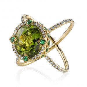 Peridot Saturn Ring
