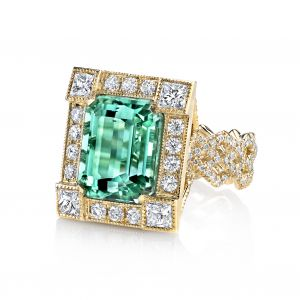 Mint Tourmaline Frame Ring
