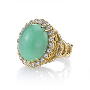 Chrysoprase Easter Egg Ring