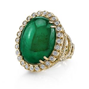 Emerald Easter Egg Ring