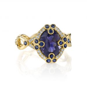 Iolite Poppy Ring
