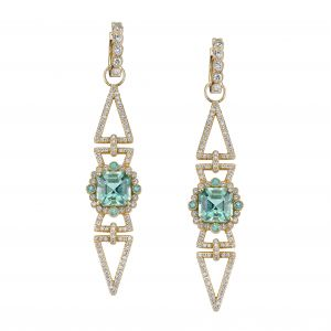 Mint Tourmaline Arrow Earrings