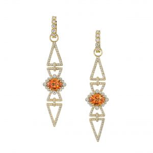 Mandarin Garnet Arrow Earrings