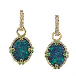 Black Opal Galaxy Earrings