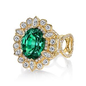 Green Tourmaline Suzie Ring