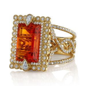 Fire Opal Olivia Ring
