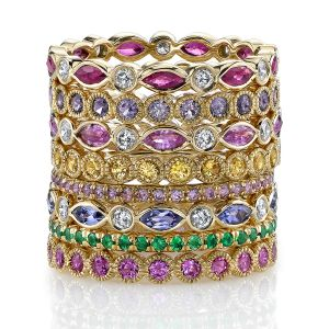 Gemstone Stacking Bands