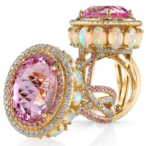 Imperial Pink Topaz Crossover Ring