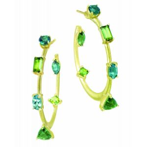 Green Gemstone Hoops