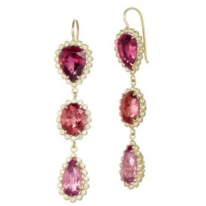 Triple Tourmaline Earrings