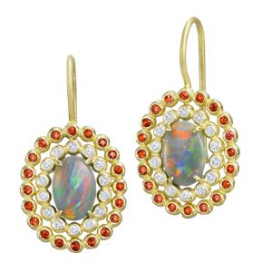 Opal Basket Earrings