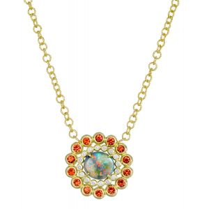 Opal Basket Necklace