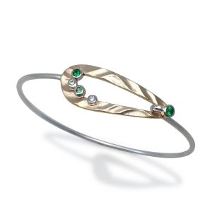 Green Garnet Pebble Bracelet