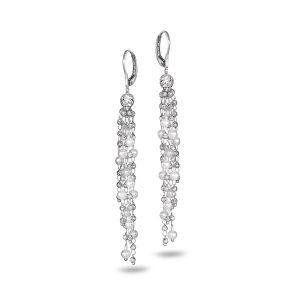 Platinum Born Debut Multi Drop Earrings