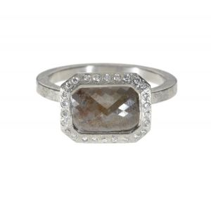 Beige Diamond Ring
