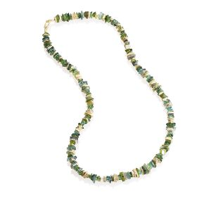 Tourmaline and Diamond Necklace