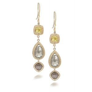 Triple Diamond Earrings