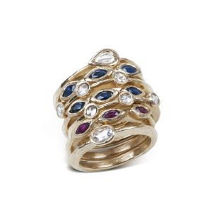 Gemstone Stackable Rings