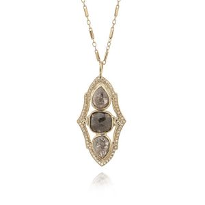 Rose Cut Diamond Pendant