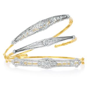 Diamond Pin Stackable Bracelets