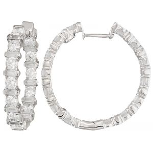 Diamond Simulant Hoops