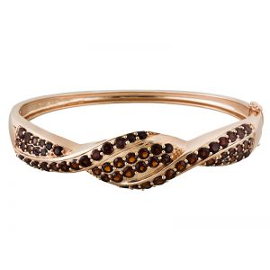 Rose Gold Swirl Bangle
