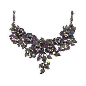 Dark Floral Necklace