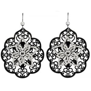 Black Lace Earrings