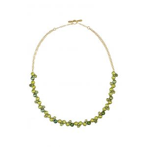 Cluster Peridot Necklace