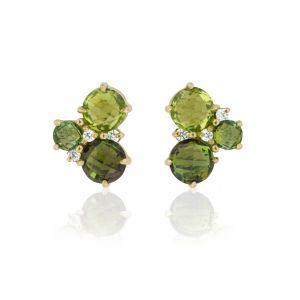 Cluster Peridot Earrings
