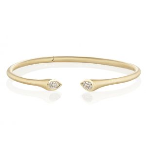 Whirl Diamond Bangle