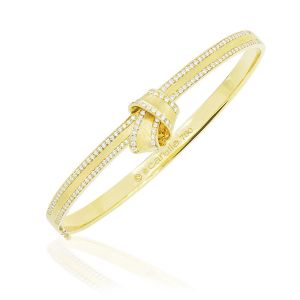 Knot Diamond Bangle